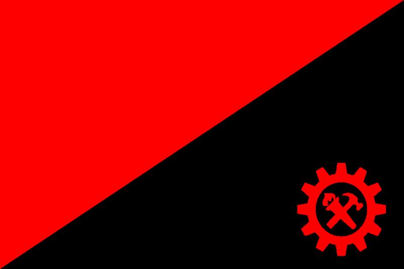 Anarcho Syndicalist Flag Bandeira Anarcossindicalista Celestial Bodies Cards Flag