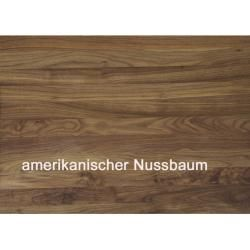 Photo of Round dining table Panama extendable walnut capital …