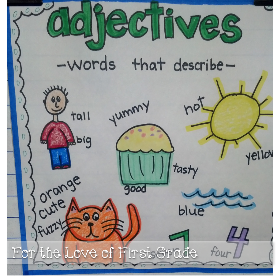 Worksheet First Grade Adjectives for the love of first grade adjectives you ask school ask