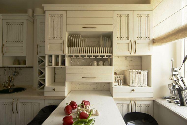 fotos de cocinas rústicas con diseño en blanco | Interiores para ...