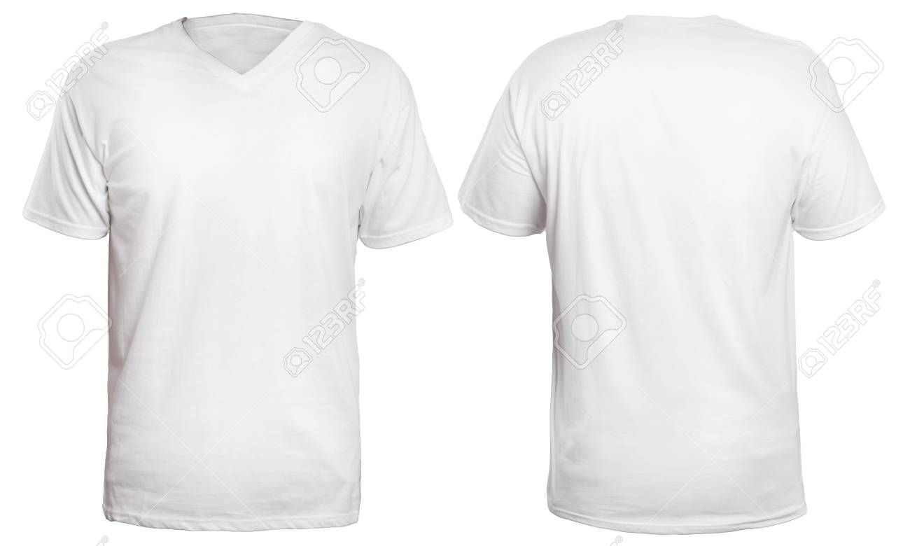 Download Blank V Neck Shirt Mock Up Template Front And Back View Isolated With Blank V Neck T Shirt Template Sample Professional Shirt Template Neck Shirt T Shirt