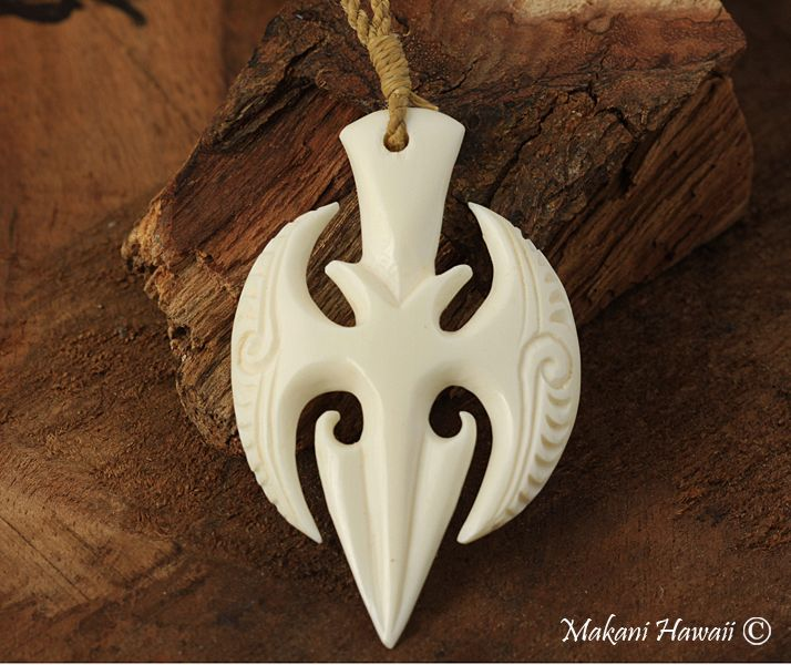 Bone carving necklaces products made in hawaii