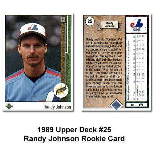 1989 Upper Deck Randy Johnson Rookie Card By Upper Deck