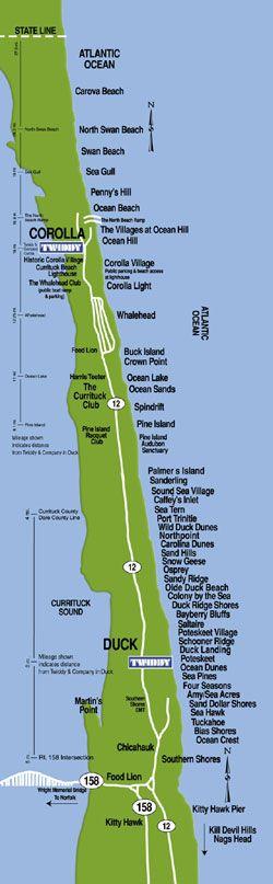 Carova Beach Map   The best beaches in the world