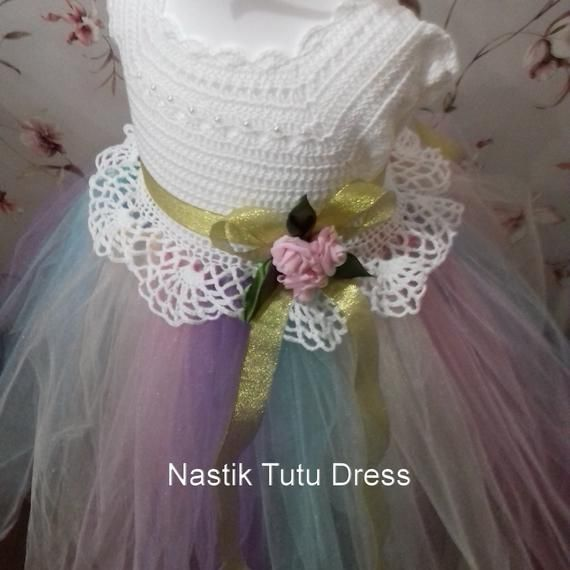 211b490ca325 Birthday tutu dress crochet unicorn outfit costume toddler baby ...