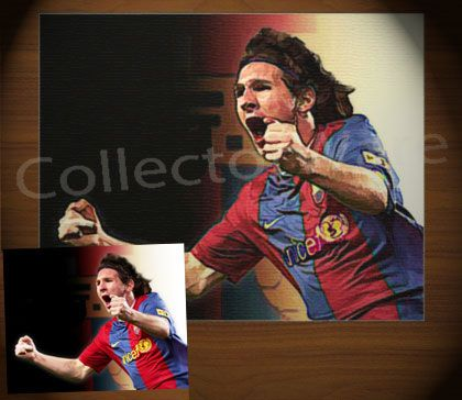 LIONEL MESSI drawing 2 CANVAS PAINTING. All original paintings direct from the artist, available as oil or acrylic, feel free to choose the artistic technique of your preference. To purchase this, or for painting orders, please contact us at info@collectorware.com, or visit http://www.collectorware.com/canvas-1famous_characters.htm