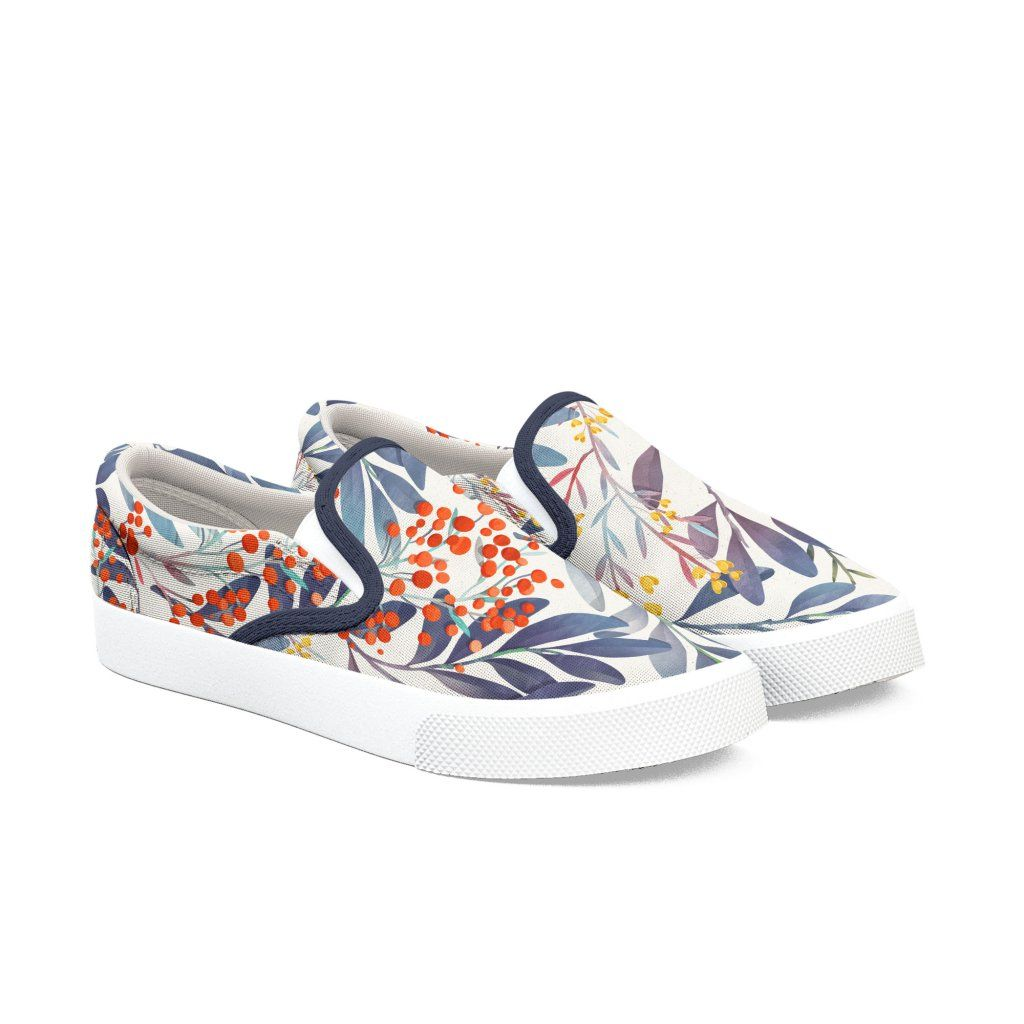 Floral Colorful Pattern Slip On Shoes