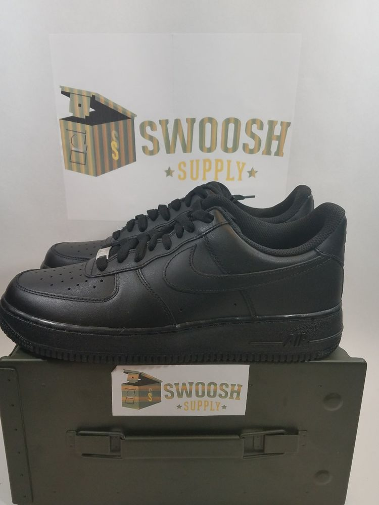 nike air force 1 '07 basket scarpe neri taglia 315122 mens