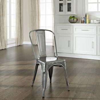 Crosley Cf500617 Ga Amelia Cafe Dining Chair Galvanized Steel Set