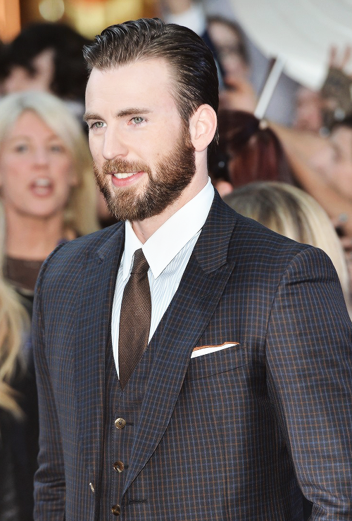 Chris Evans attends the Avengers: Age Of Ultron European premiere at the Westfield London on Tuesday.