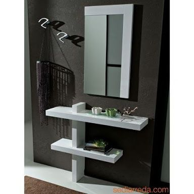 Resultado De Imagen Para Repisas En Hall Dressing Table Design Dressing Mirror Mirror Wall Decor