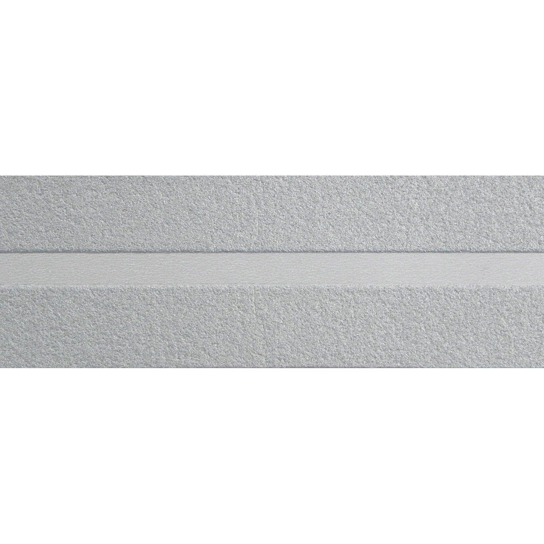 Papier Peint Capitonné Gris bordure expansé adhésive liseret argent l.10 m x l.4 cm
