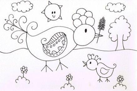 Quatang Gallery- Kleurplaat Vogel In De Tuin Kleurplaten Vogels Kleuren