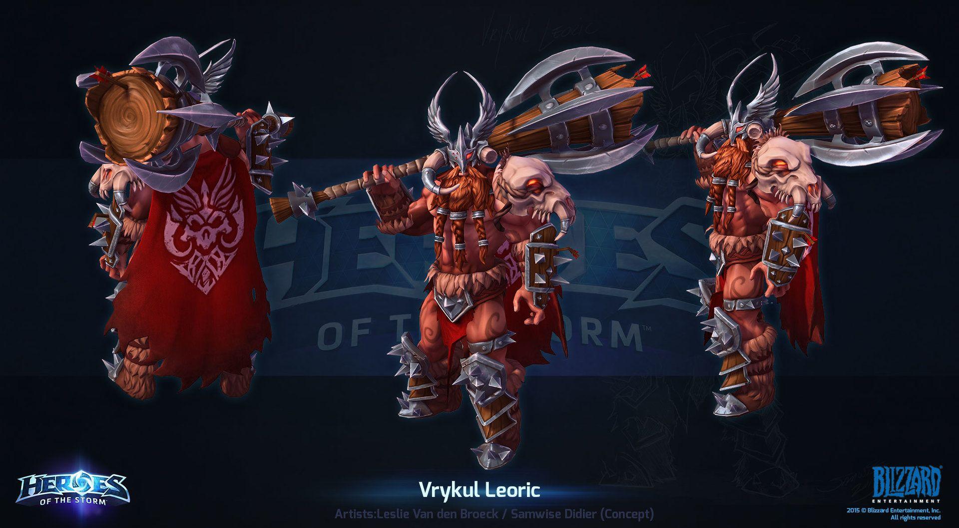 Artstation hots vrykul leoric leslie van den broeck - Heroes of the storm space lord leoric ...