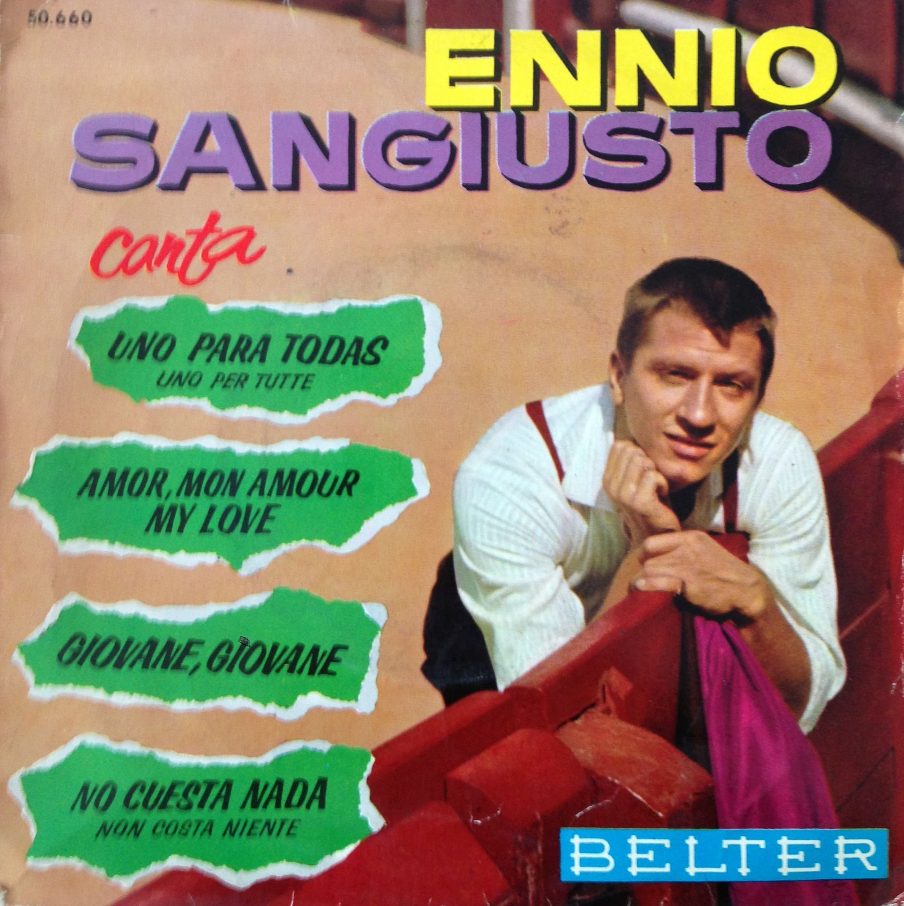Ennio Sangiusto synger en spansk version af Italiens sang 1963. En version med pep og øjeglimt ...