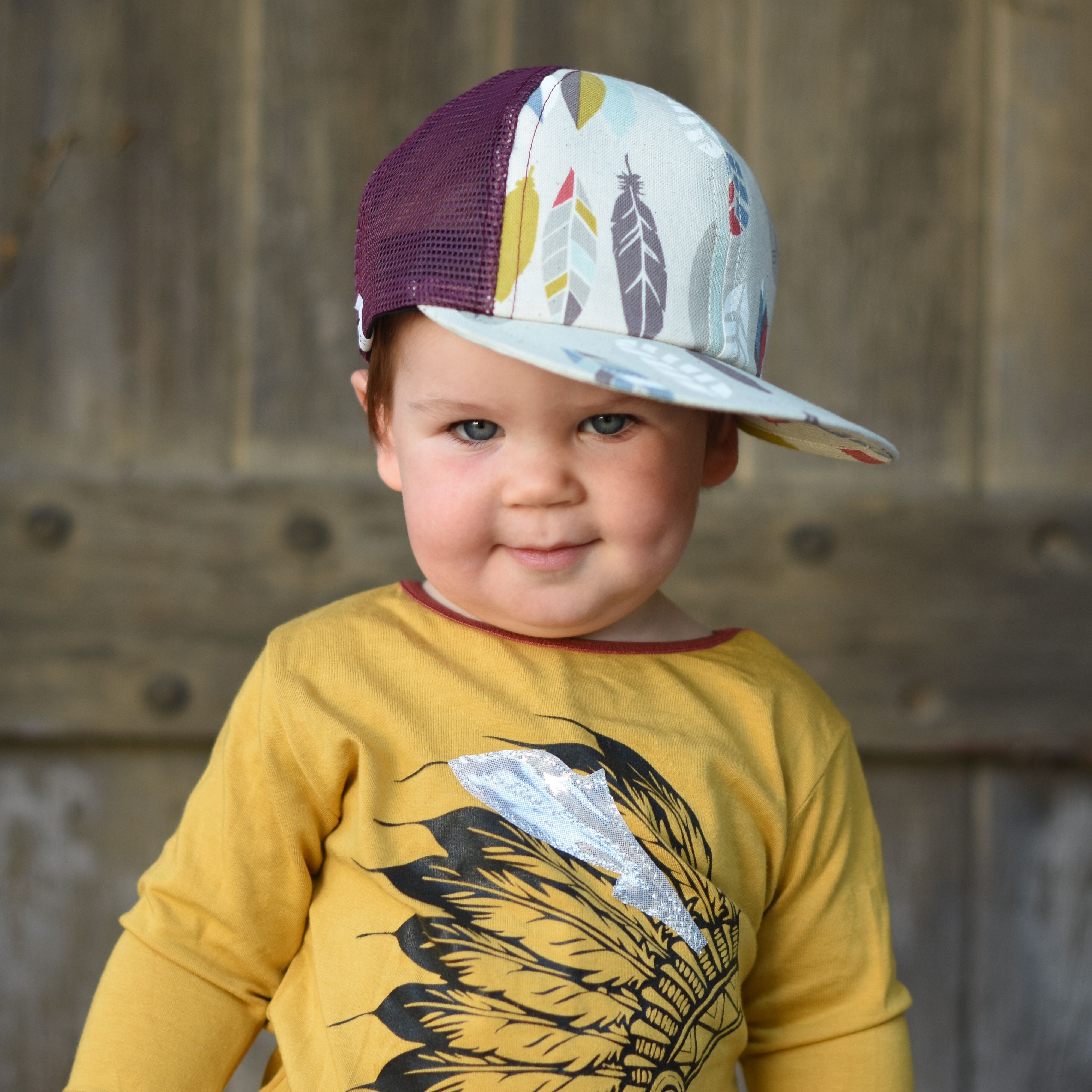 fedddd3d4 Fall Baby Style! Toddler Trucker hat @george_hats | Snakes & Snails ...