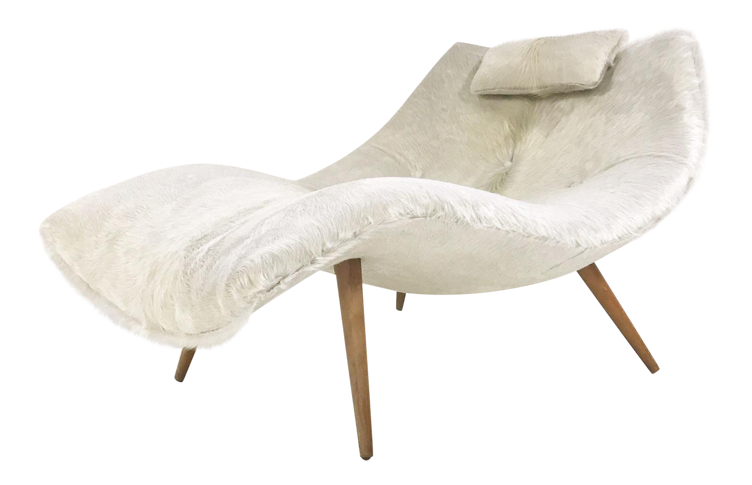 Adrian Pearsall Chaise Chair Model 1828 Restored In Brazilian
