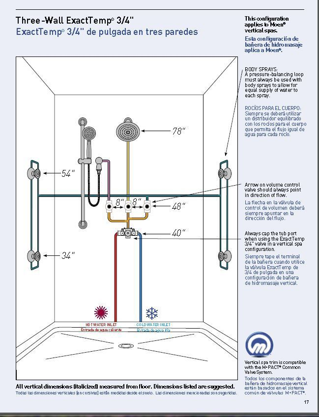 Vertical Spa Systems Measures Bathroom Design Layout
