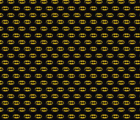 Batman Splatter fabric by becciboo on Spoonflower - custom fabric