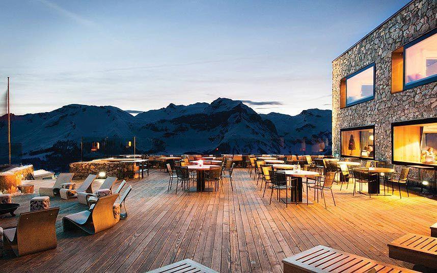 The 40 Best Mountain Restaurants In The World Crans Montana Hotel Outdoor Design