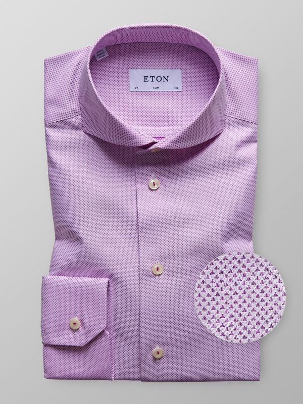 Purple Geometric Shirt