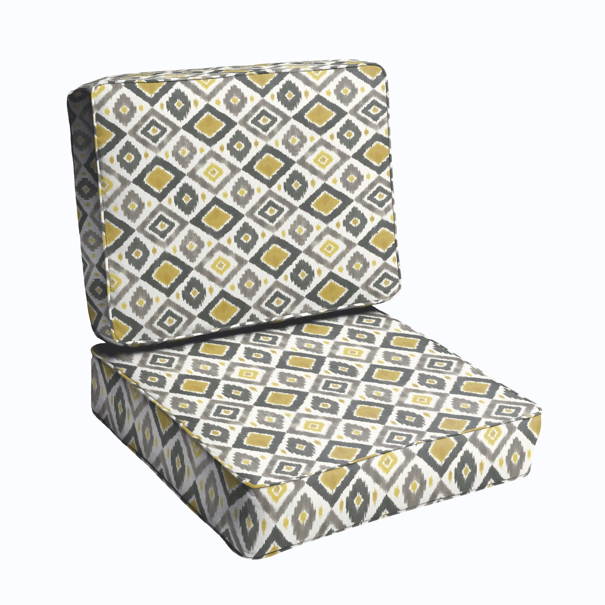 2 piece outdoor chair cushion set products pinterest 2
