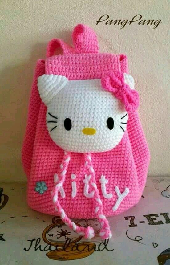 Hello Kitty tapestry bag | bolsos a crochet | Pinterest | Mochilas ...
