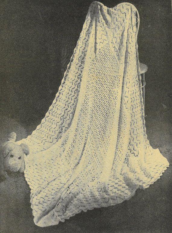 Dream shawl vintage baby shawl knitting pattern PDF shetland lace ...