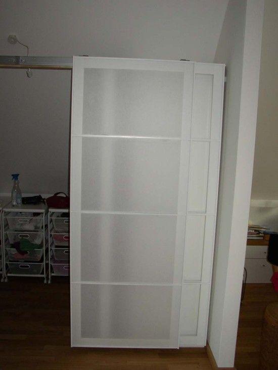 Pax Armoire Doors Get New Life as Barn Doors Bedroom size, Ikea - armoire ikea porte coulissante
