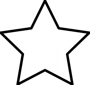 kleurprent ster zoeken ster sjabloon