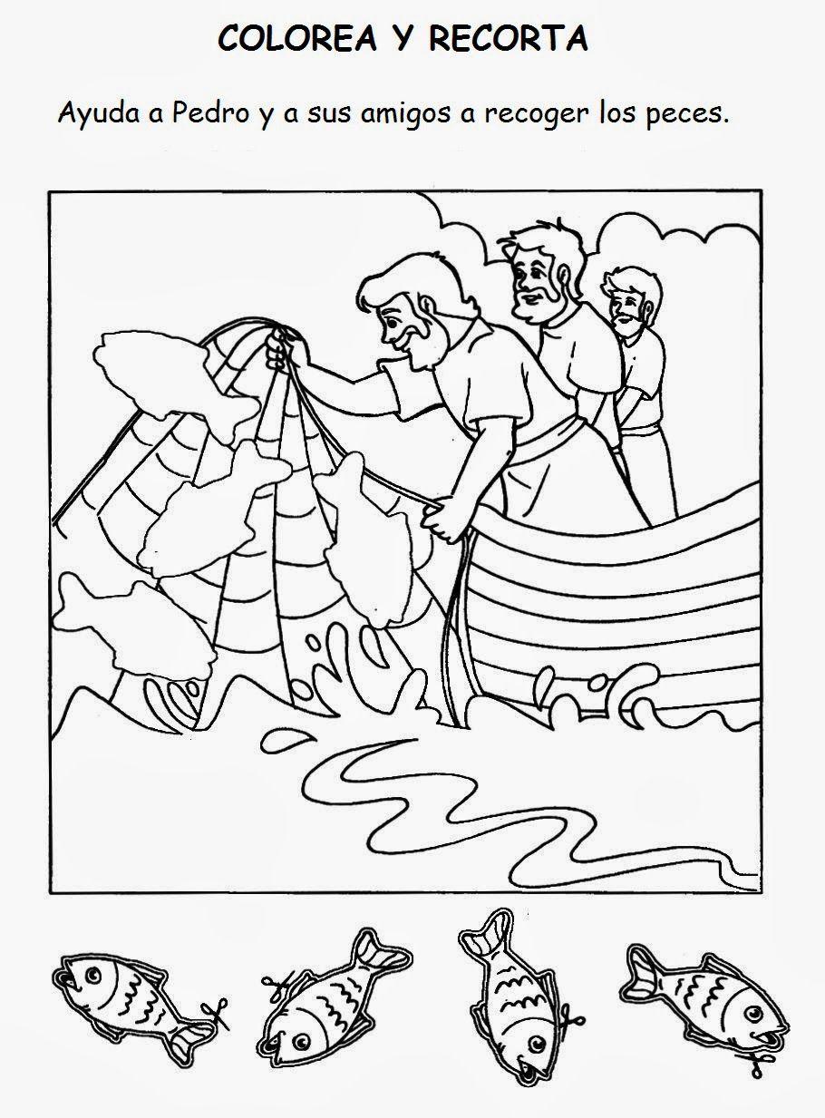 Milagros de Jesús. La pesca milagrosa | Manualidades Recreo ...