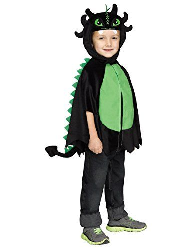 black dragon poncho toddler costume large fits up to 3t - Dragon Toddler Halloween Costume