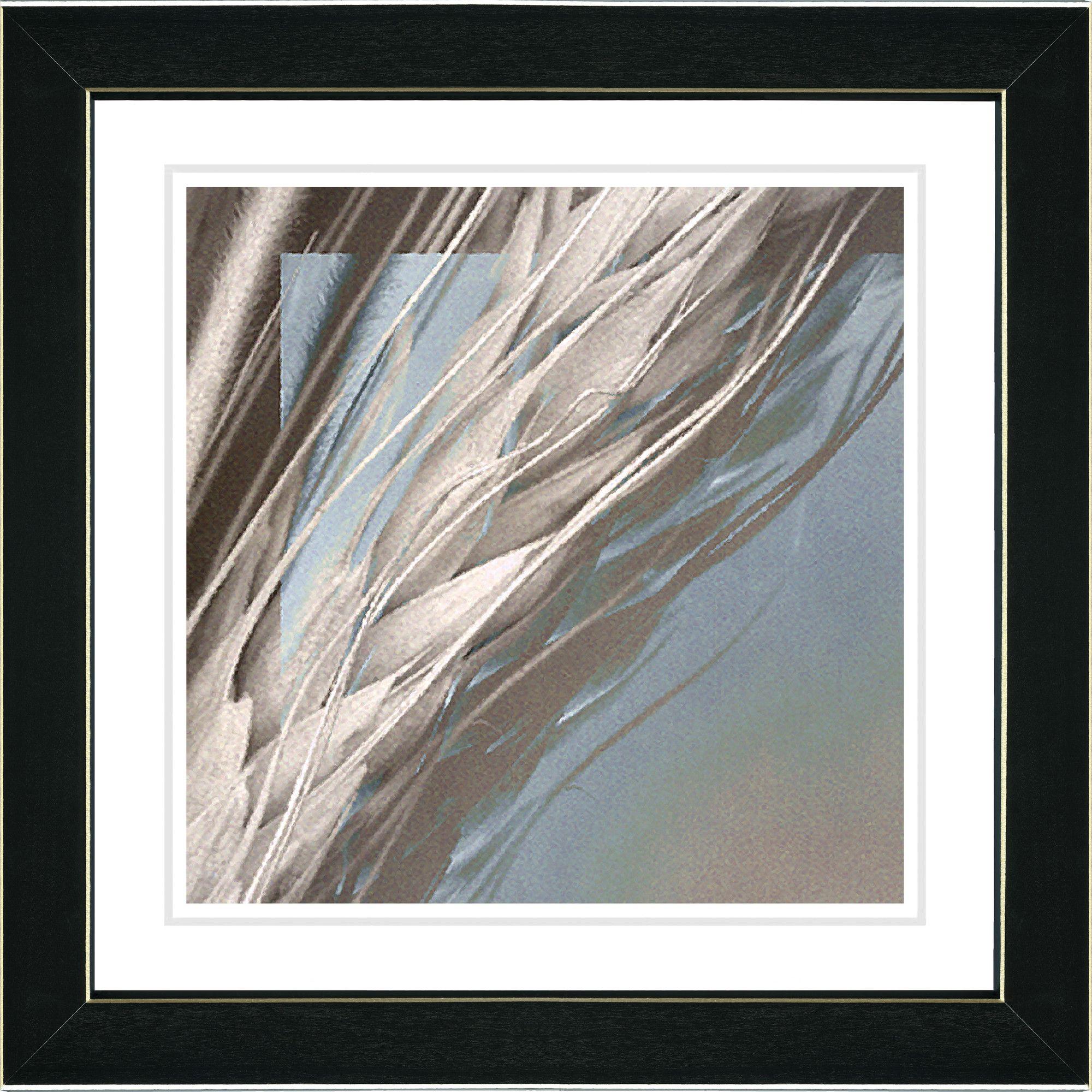 Beige Shaft of Wheat by Zhee Singer Framed Graphic Art