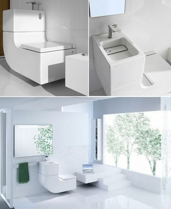 Wash Basin Water Closet Saving Water And Space Water Closet Small Bathroom Tiny Bathrooms