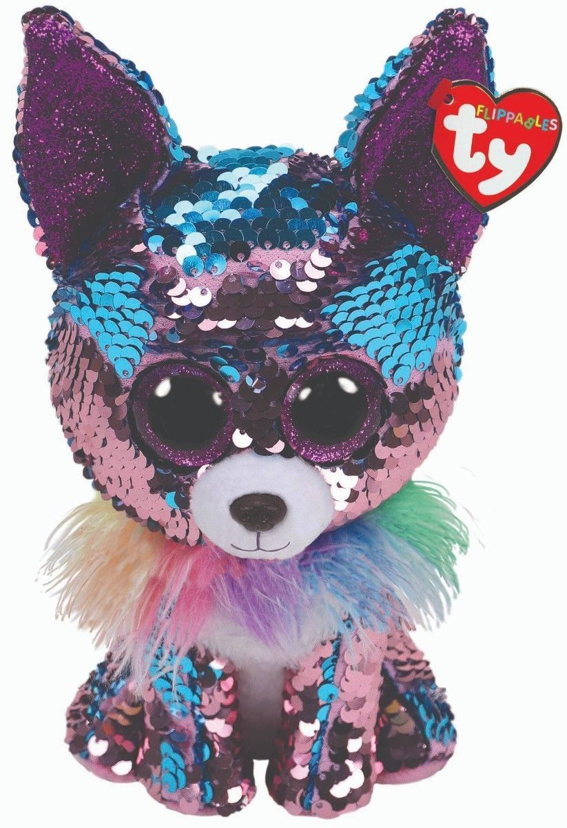 Ty 19203 Ty Sequins Flippables Beanie Boos 6 Yappy Mwmt