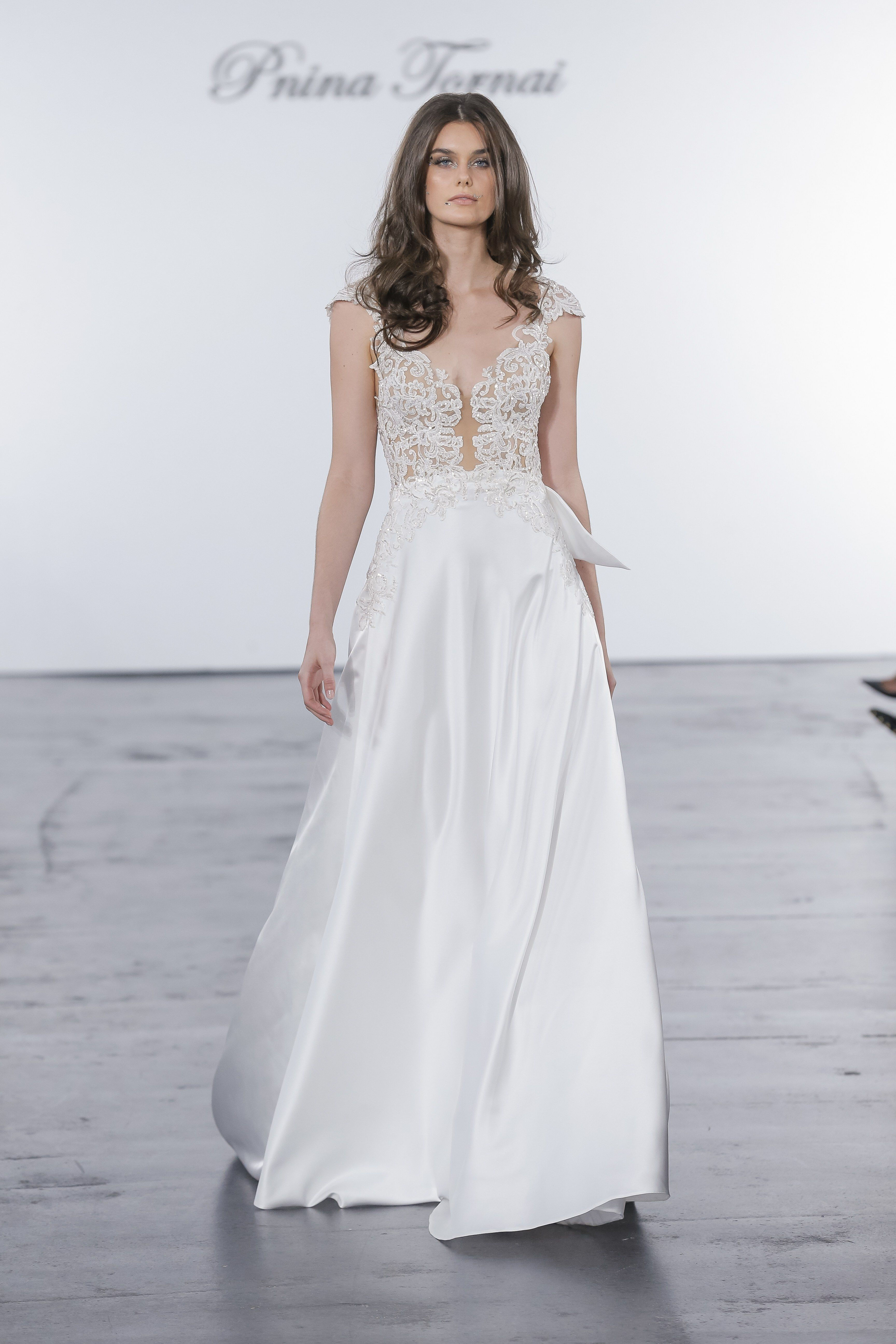 Pnina Tornai For Kleinfeld Bridal Wedding Dress Collection Fall 2018 Brides Different Top Skirt Needs Lace Pattern: Kleinfeld Wedding Dresses Pnina Tornais Area At Reisefeber.org