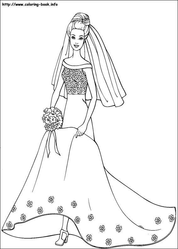 Barbie coloring picture | Coloring Pages | Pinterest | Malbücher und ...