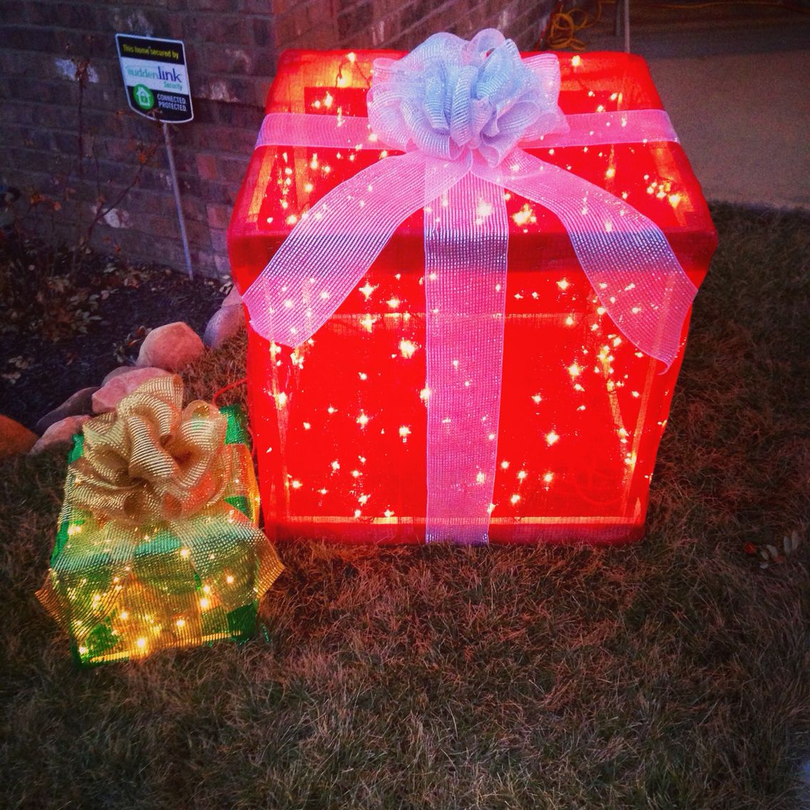 our diy light up christmas presents my hubby created the boxes out of pallets we