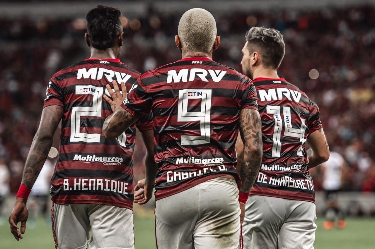 Gabigol Arrascaeta Bruno Henrique Flamengo Mengão Fla