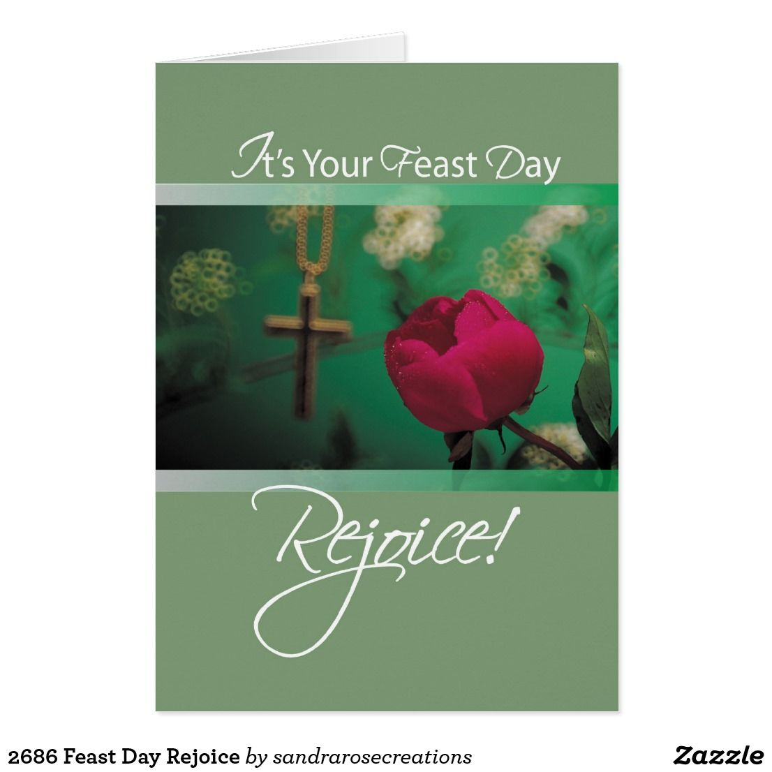 2686 Feast Day Rejoice Card In 2018 Religious Christian