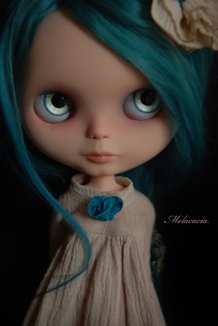 Melacacia Custom Blythe Doll ~ OOAK Rerooted Art Doll