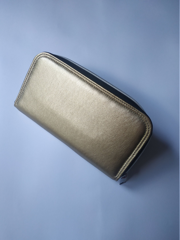 Mittens Women Leather Long Zipper Wallet Hand Purse