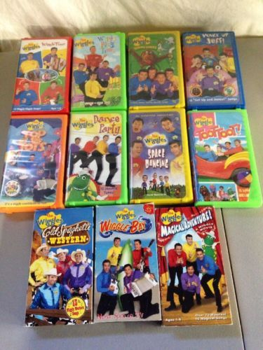 lot of 11 the wiggles vhs tapes dance sing party rare oop children 039 s song