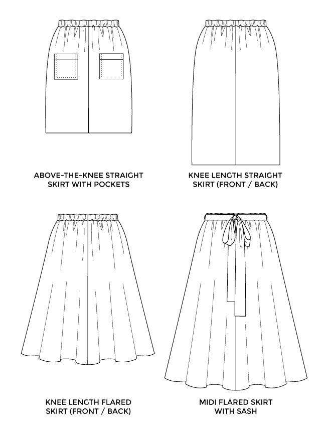 Dominique skirt   Pinterest   Easy patterns, Sewing patterns and ...