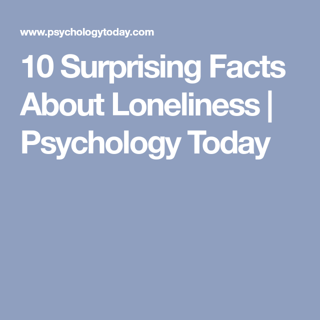 facts about loneliness