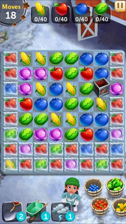 FarmVille Harvest Swap screenshot Game interface