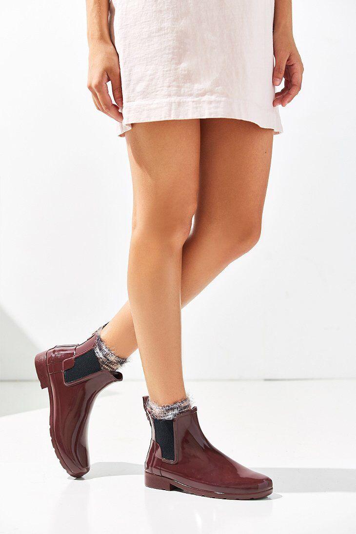 74a8489f818 Hunter Original Refined Chelsea Gloss Rain Boot