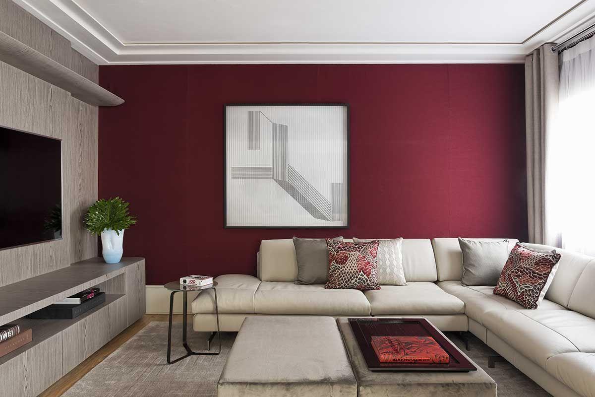 Apartamento Bord Plantas Quadradas Cor Bord E Sala Sof  -> Papel De Parede Para Sala Bordo