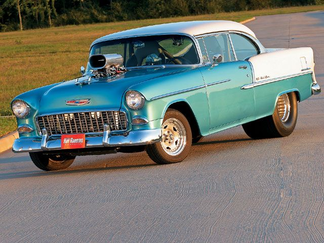 Check out this 1955 Chevy Bel-Air that comes with a Chevy 502 big-block, ported …