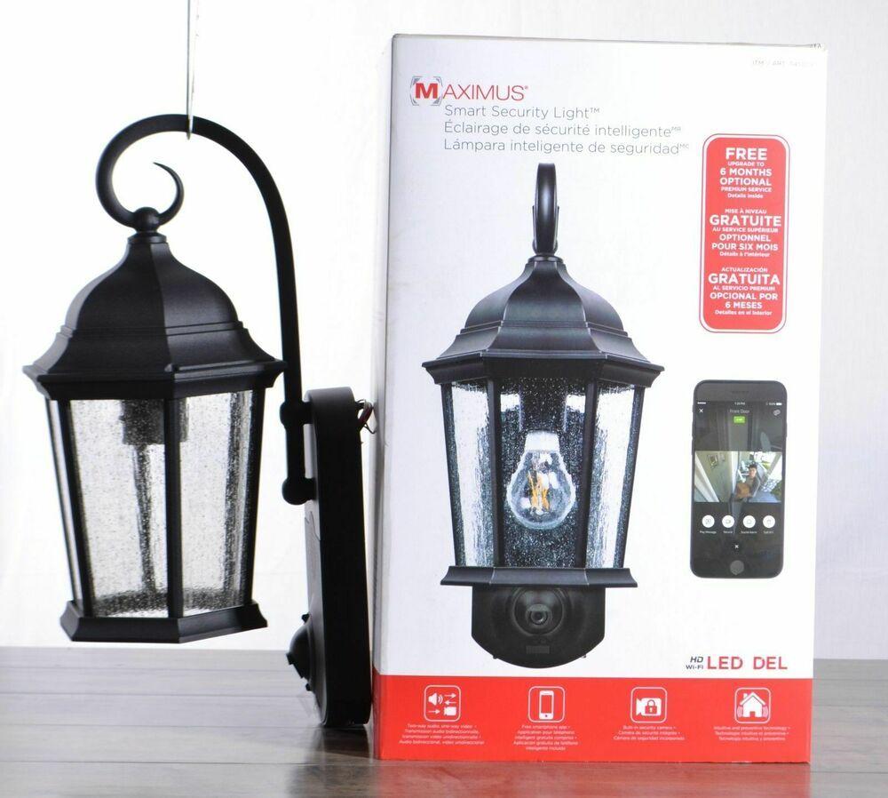 Black New Free Shipping Maximus Smart Security Camera /& Outdoor Light Coach